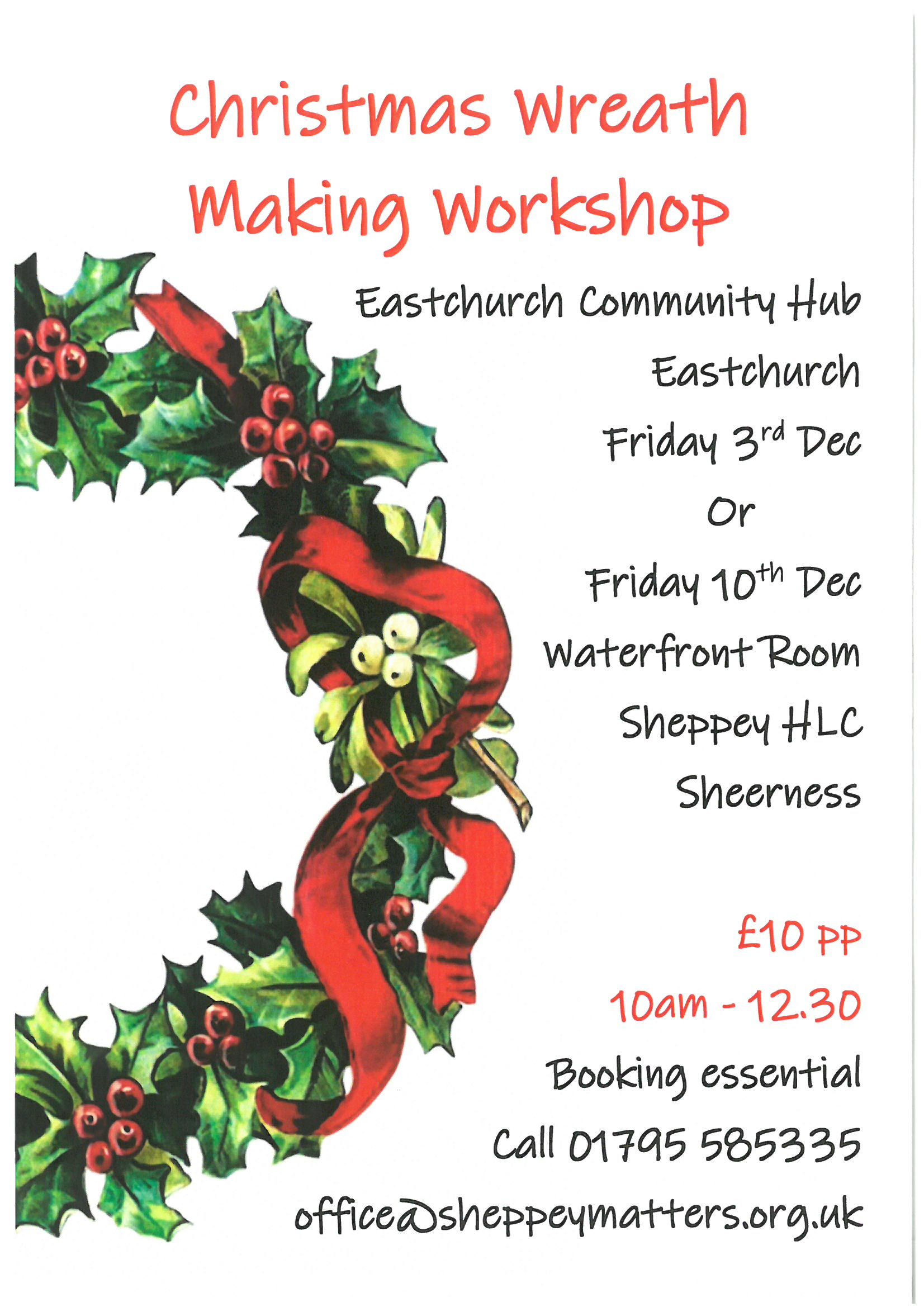 Wreath Making Workshop at Sheppey Matters